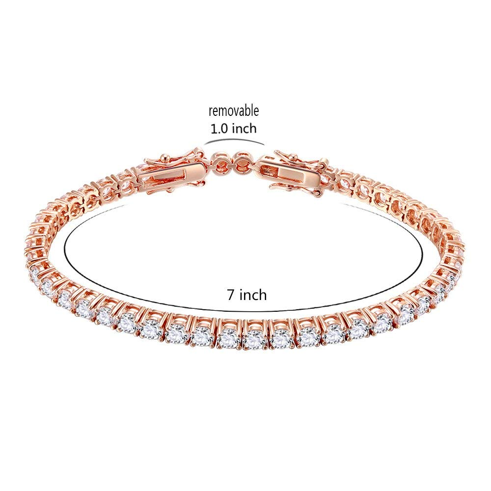 OB Jewelry AAA CZ Tennis Bracelet Bridal Wedding Evening Party Prom Gold Plated Jewelry Woman