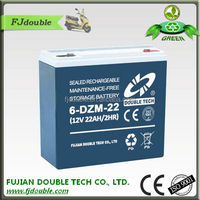 Maintenance Free 12V 22AH Lead Acid Battery 6-DZM-22 E-bike Battery