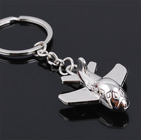 Creative Car Keychain Mini Unmanned Aircraft German Small Plane Handmade Keyring
