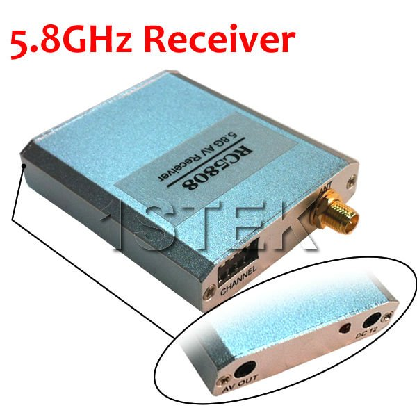 5725-5865MHz 8 channels 5.8GHz Wireless Video Audio FPV Receiver for RC Heli Multicopter