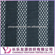 yarn dyed stripe single jersey knit mesh fabric