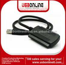 "Superspeed USB 3.0 to 2.5"" 3.5"" SATA I II III IDE HDD DVD-RW DVD-R0M cable adapter black"