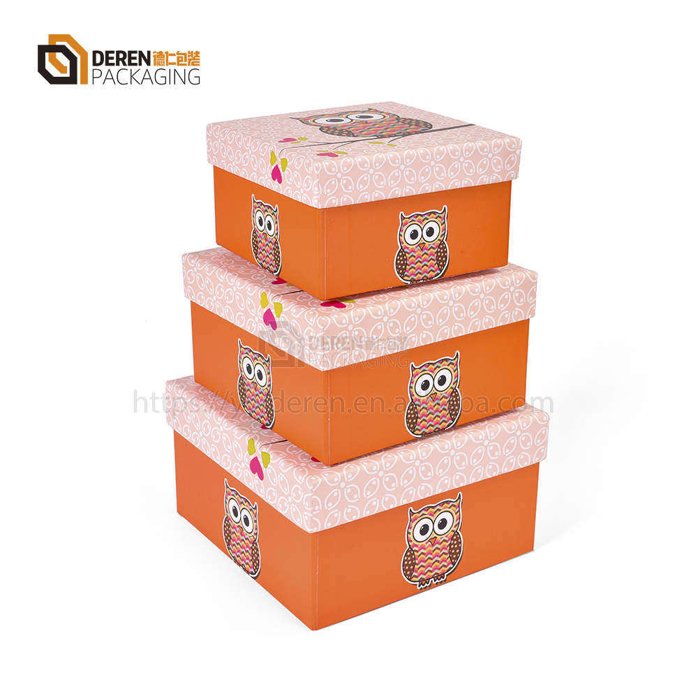 Vivid Attractive Owl Design Gifts Packaging Storage Box For Kid Child