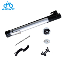 INBIKE Customized Aluminium Alloy Outer Tube Hand Operated Air Hand Pump For Bike