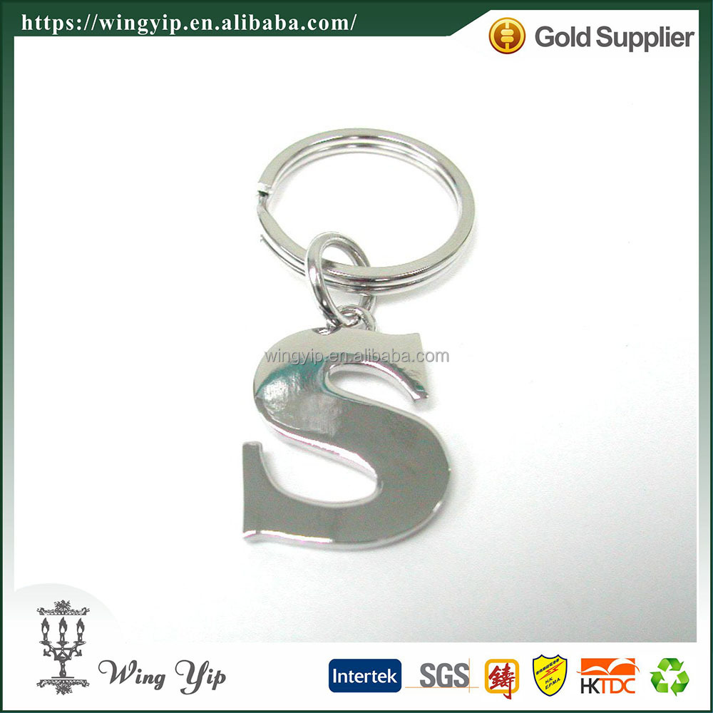 Wholesales with Letter Alphabet custom Metal Gift Key chain