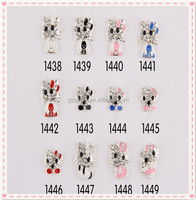 Charms Miss Girl Favorite Famous Designer Cute Cat Cartoon Nail Art Design Pictures