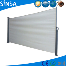 Outdoor retractable wind screen side awning for balcony awning