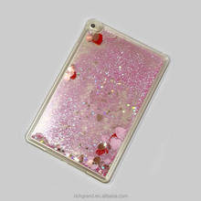 Hard Back Cover For ipad Mini 3D Loving Heart Quicksand Case