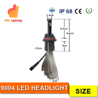 DDL high power mortorcycle parts 60w light M3 mini motorcycle led headlight 6000K car headlight bulbs 9004 high low beam