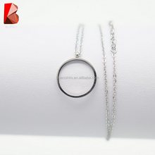 shiny gold stainless steel jewelry color necklace with ring fashion