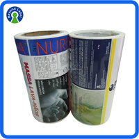 Customized Logo Print Roll Tear off Auto Adhesive Sticker Label