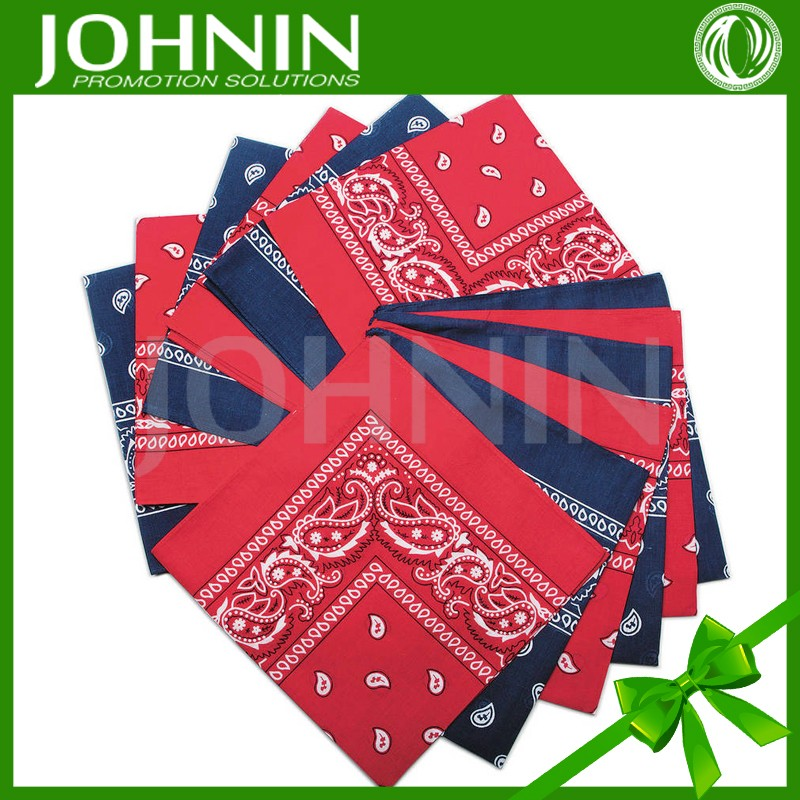 Customized Cotton polyester Square Printing Bandanas