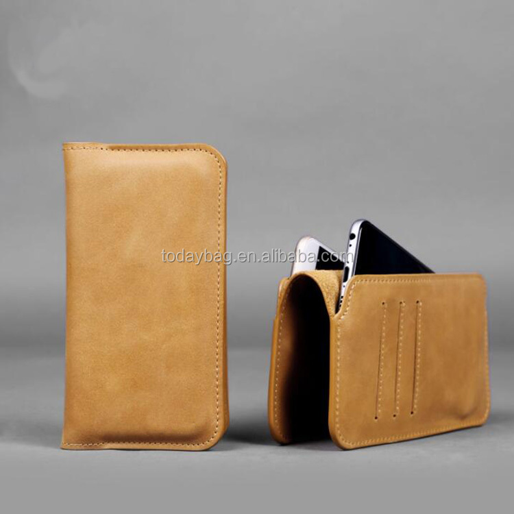 Custom Luxury leather Phone Wallet