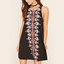 Abstract print women nice dresses for women