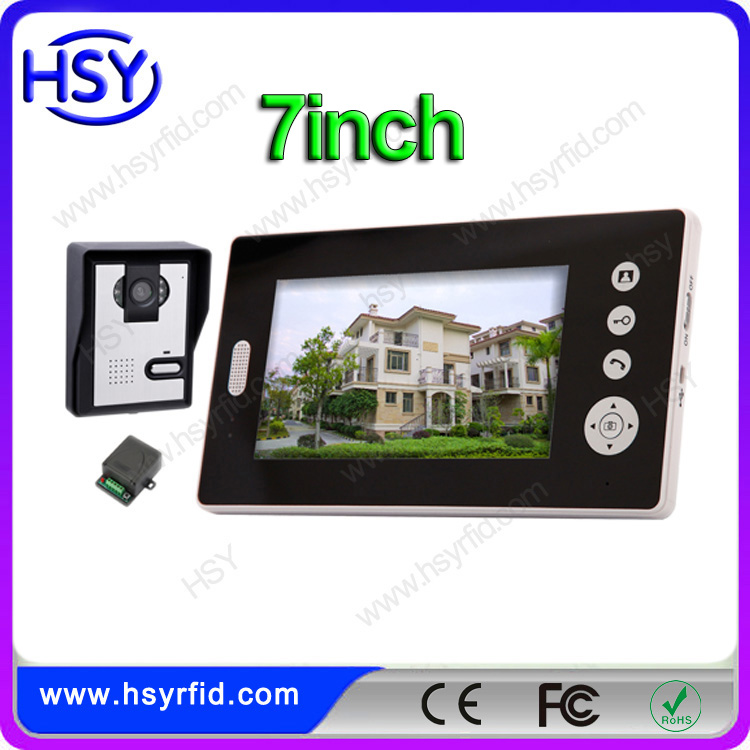 7'' Video Door Phone Intercom Doorbell Wireless Home Security Camera Monitor Night Vision