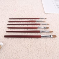 [2016 New Arrival ] Fine Kolinsky Hair Filbert Short Wooden Handle Acrylic and Oil Painting Brush