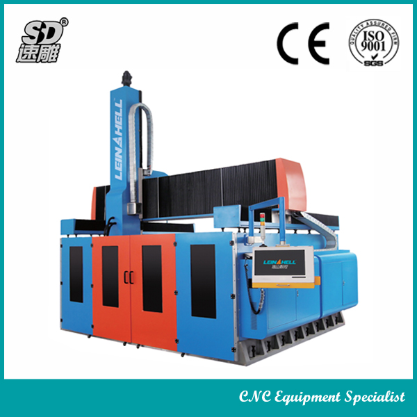 Italy VEM 12kw spindle granite marble stone 5 axis stone cnc machine 5-axis cnc machine