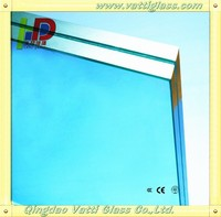 2014 New technology! High quality clear laminated glass 6 38mm