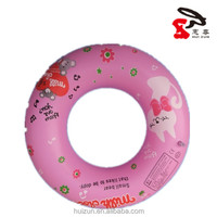 Fashion high quality cheap PVC swimming inflatable circle ring with printing adult/adult inflatable infant swim neck float ring