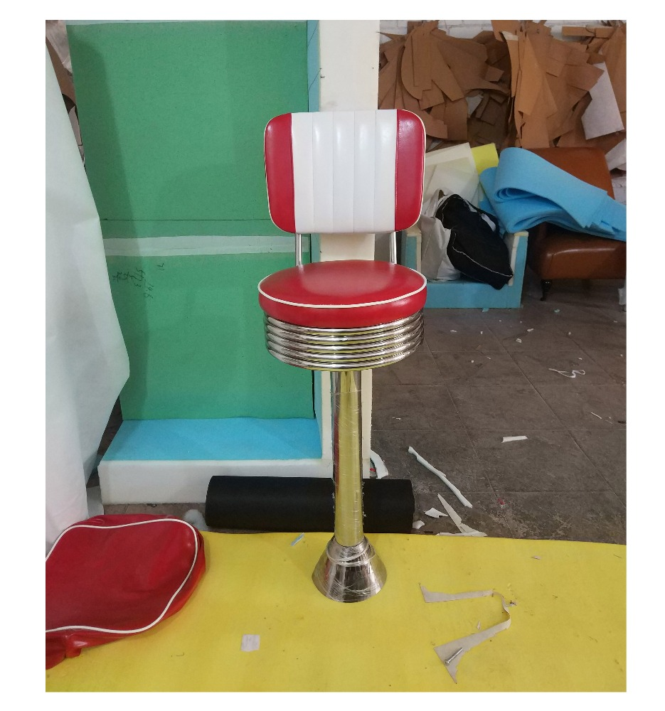 Retro Furniture Diner Floor Fix Barstool Fifties Style Soda Fountain  Barstool