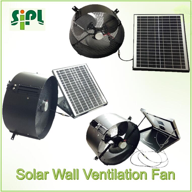 Clean-energy Solar vent kits air cooler conditioning exhaust ventilating wall fan