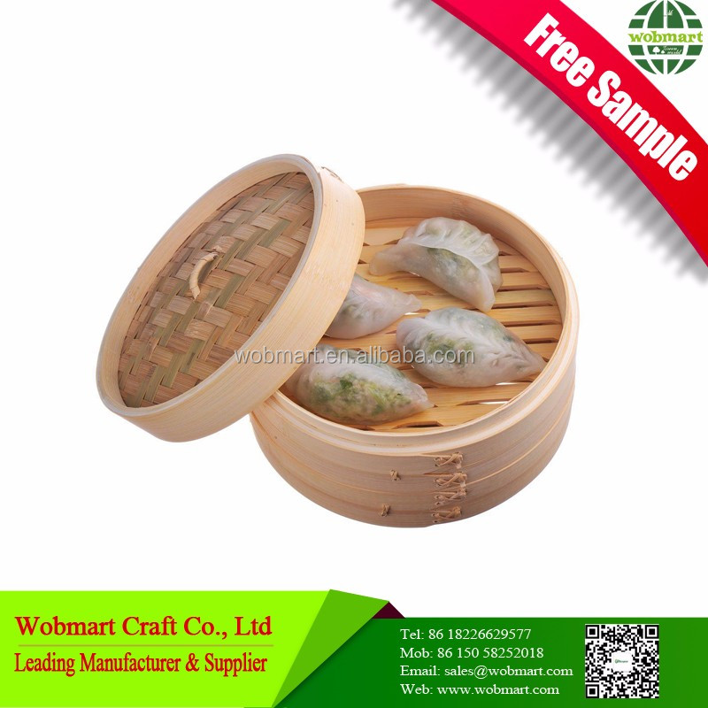 Wholesale Chinese Bamboo Commercial Dumpling Steamer