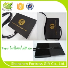 high quality printed paper packaging box with ribbon for USB Packaging
