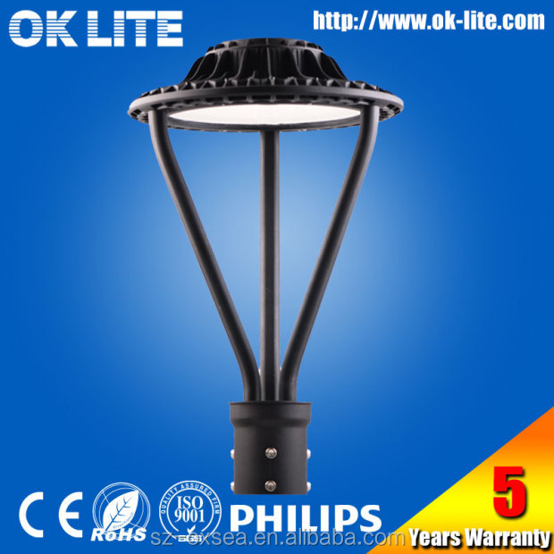 ip65 black outdoor photocell 75W led garden pole light