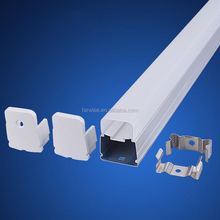 New model squareT8 led tube housing integration fluorescent light diffuser cover