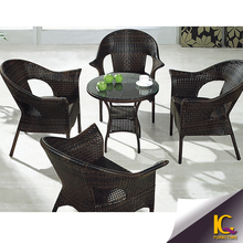 Trade assuranced hot sale outdoor furniture small round table round glass table