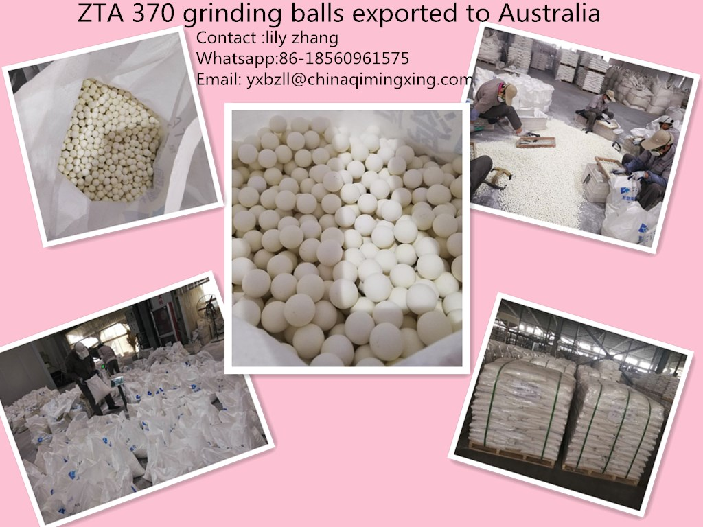 light yellow zirconia toughed alumina grinding balls density 3.80g/cm3 ZTA380