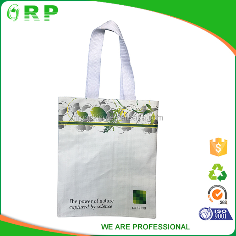 ISO/BSCI Promotional eco-friendly custom floral lightweight pp woven shopping bag