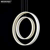 MEEROSEE 2018 Fashion Designer Hanging Lights Acrylic Rings LED for Coffee Shop Indoor Lighting MD86339-2R