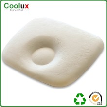 Standard size Organic flat head round shape suppor baby memory foam pillow