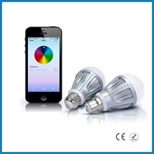2014 newest product RGBW 7W e14/e26/e27/b22 Bluetooth dimmable e27 20w led bulb warm white