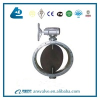 Ductile Iron DN300 Electric Aeration Flange butterfly valve