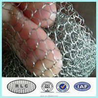stainless steel or galvanized knitted wire mesh