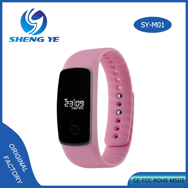 M01 Wristband Sports Fitness Tracker Pedometer Step Counter Heart Rate Monitor Health Sleep Monitor Smart Watch