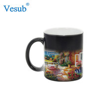 Hot China Products Wholesale Popular Enamelware Heat Press Color Changing Mug