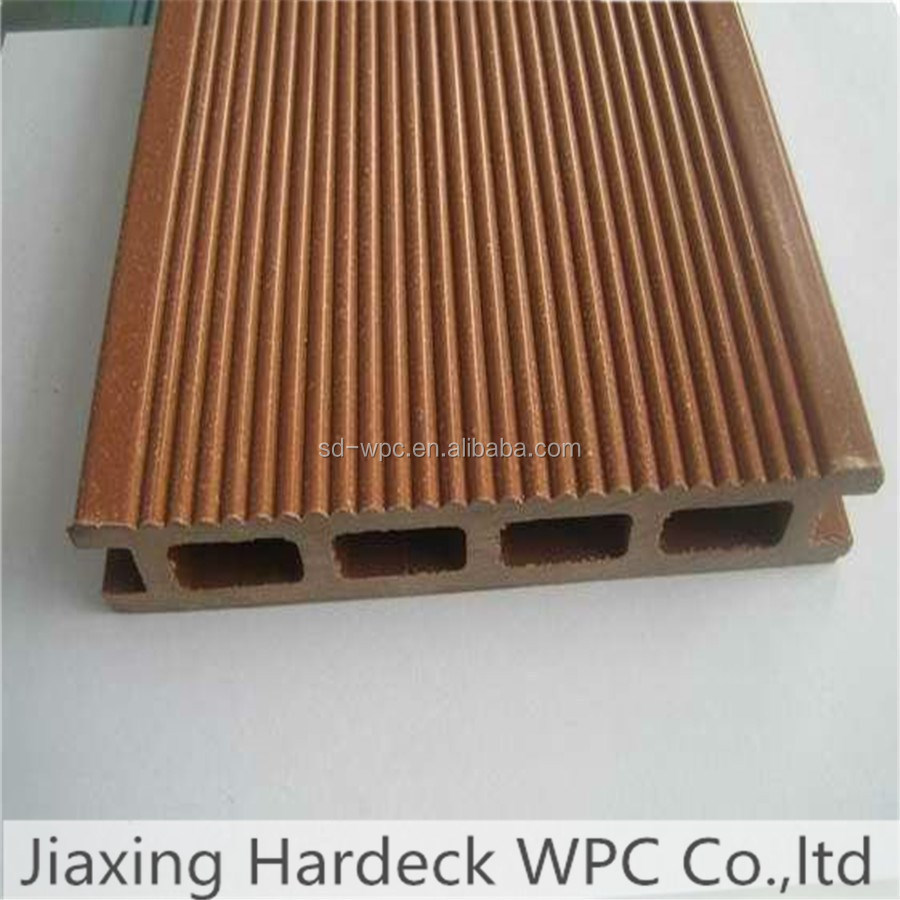 wpc hollow composite decking board