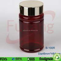 Plastic Material and Recyclable Pill Bottle,PET Medicine Container With Label,Plastic Container For Medicine Powder