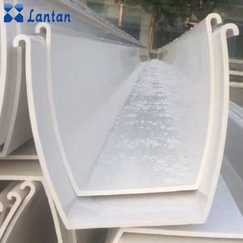 Wholesale agricultural greenhouse hydroponic system PVC plant slot gutter for tomato