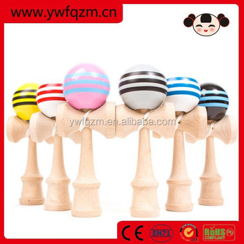 stripe color china wholesale wooden kendama