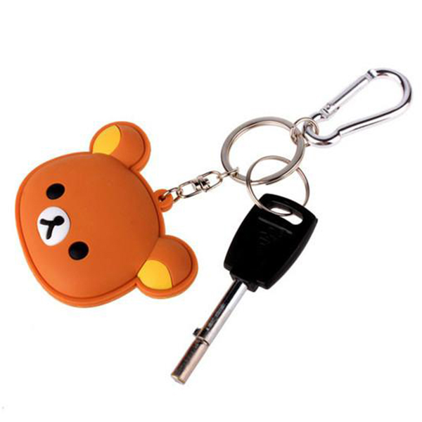 cheap custom promotional rubber metal keychain