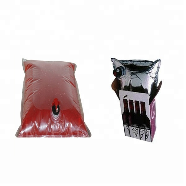 Premium quality bib bag in box wine with dispenser for cooler bib bag in box for wine <strong>packing</strong>