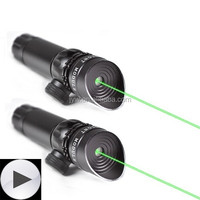 2 Mounts Switch Tactical Power 532nm Green Dot Adjustable Laser Sight Scop