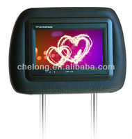 7 inch TFT LCD Advertising Car Headrest USB Touch Screen Monitor