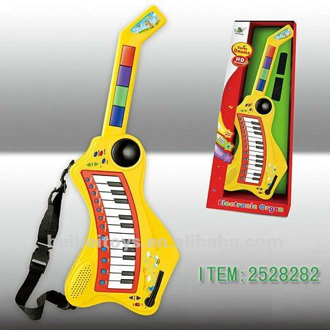 Baby Plastic Mini Jive Guitar, Cartoon Music Toy for Baby