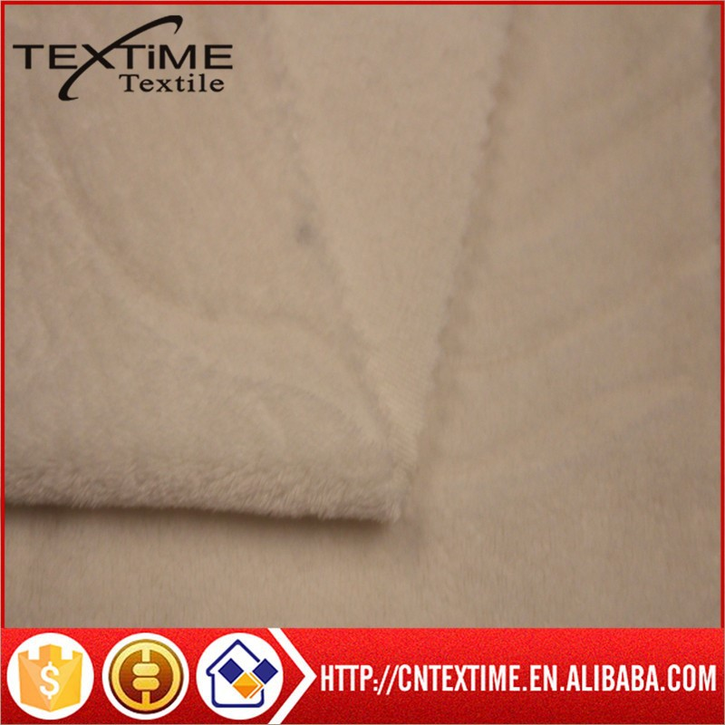 100%polyster super soft short plush burn out for Home textile