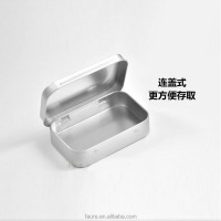 small rectangle tin box with hinge candy tin box jewelry metal case